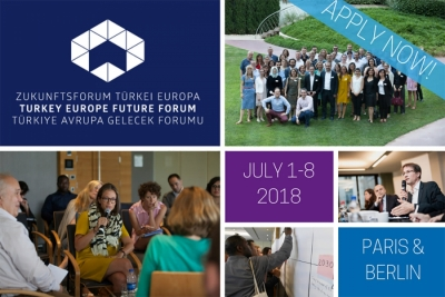 The 4th Turkey Europe Future Forum will take place from July 1st to July 8th 2018 in Paris and Berlin